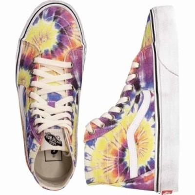 ヴァンズ Vans メンズ スケートボード シューズ・靴 - Sk8-Hi Tapered (Washed) Tie Dye/True White - Shoes multicolored