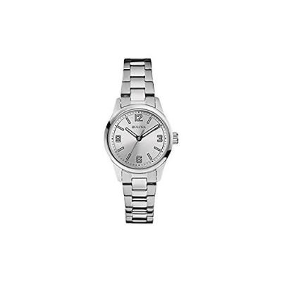 Bulova Classic Quartz Ladies Watch, Brass , Silver-Tone (Model: 96L198) 好評販売中