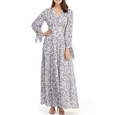 ギャルミーツグラム レディース ワンピース トップス Florence Tie Sleeve Floral Print Maxi Dress