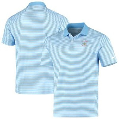 ナイキ メンズ ポロシャツ トップス Men's 2020 U.S. Open Nike Light Blue Victory Performance Stripe Polo