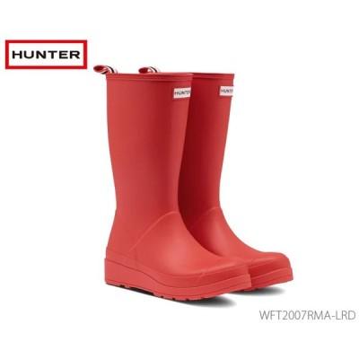 ハンター HUNTER レディース オリジナル プレイ トール レインブーツ: ロゴレッド 国内正規品  Original Play Tall Rain Boots WFT2007RMA-LRD