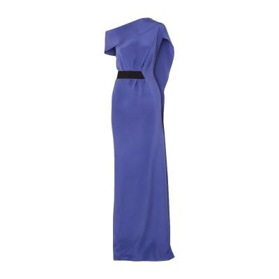 ローラン ムレ ROLAND MOURET ロングワンピース&ドレス ブルー 6 シルク 100% ロングワンピース&ドレス