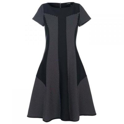 ダナ キャラン ニューヨーク DKNY レディース ワンピース ワンピース・ドレス Boat Neck Straight Dress Black/White