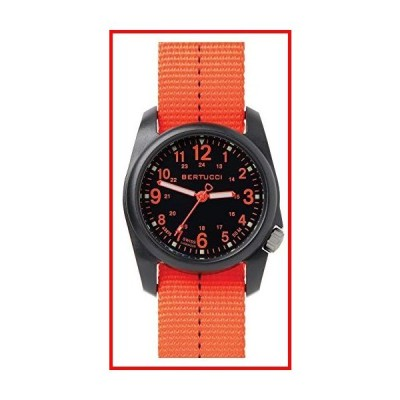 Bertucci dx3?Field Resin Watch、dash-striped Drabナイロンストラップ、ブラックダイヤル???11042