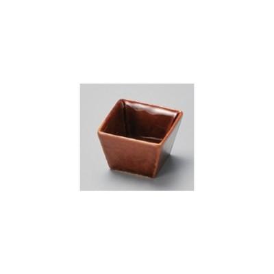 和食器 / 珍味 アメ釉角珍味 寸法:4.5 x 4.5 x 3.2cm