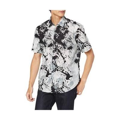 ヒューゴ シャツ/ブラウス スリムフィット アブストラクトプリント コットンキャンバス シャツ XL グレー