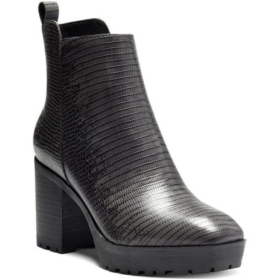 ラッキーブランド レディース ブーツ・レインブーツ シューズ Worrin Printed Leather Block Heel Booties