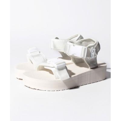 【シュガーシュガー】 スポーティバックベルトサンダル レディース ホワイト M(約23cm) Sugar Sugar