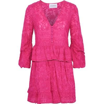 NICHOLAS ミニワンピース&ドレス フューシャ 4 コットン 70% / シルク 30% ミニワンピース&ドレス