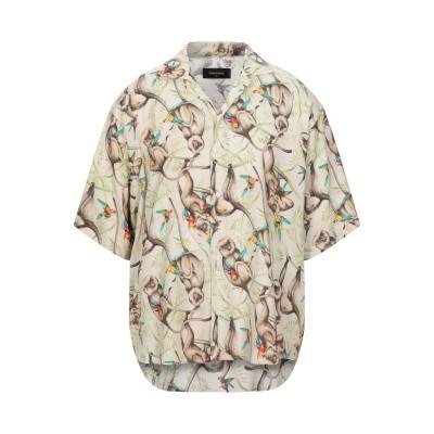 ディースクエアード DSQUARED2 シャツ ベージュ 46 レーヨン 100% シャツ