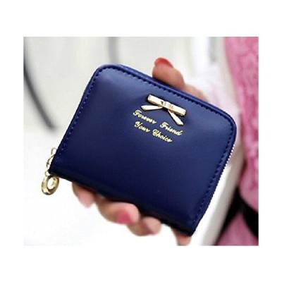 【LQB004】レディース財布 合成皮革 かわいい小銭財布 小銭入れ (ネイビー)