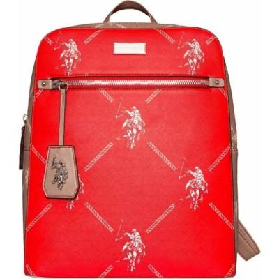 ユーエスポロアッスン U.S. POLO ASSN. ユニセックス バックパック・リュック バッグ Color-Block Signature Backpack Red