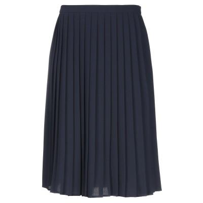 アルマーニ ジーンズ ARMANI JEANS ひざ丈スカート ダークブルー 42 ポリエステル 100% ひざ丈スカート