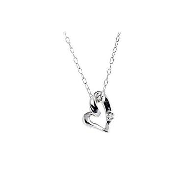 [キャーロ ディ ディアマンテ] ダイヤモンド 0.01ct ホワイトゴールド K10 ネックレス CHD0002