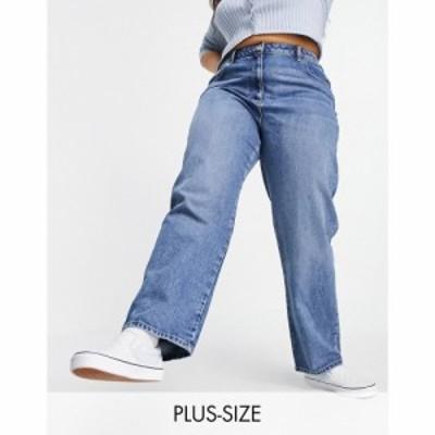 コルージョン Collusion レディース ジーンズ・デニム ボトムス・パンツ Plus X005 90S Straight Jeans In Midwash Blue ブルー