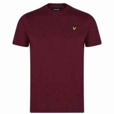 ライル アンド スコット Lyle and Scott メンズ Tシャツ ロゴTシャツ トップス Basic Logo T Shirt Merlot