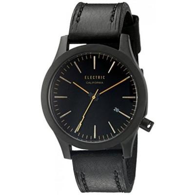エレクトリック カリフォルニア 腕時計 レディースウォッチ Electric Unisex EW0080050055 FW03 Analog Display Japanese Quartz Black Watch with Leather
