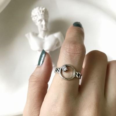 リング 指輪 レディース 女性 婦人 アクセサリー シルバー925 フープ ビジュー ねじり おしゃれ 上品 プレゼント ギフト