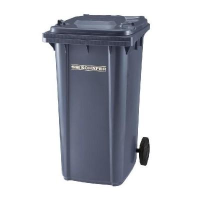 ※代引不可 送料無料 施設用品 ゴミ保管庫 清掃用品・ゴミ箱・ペール ウェイストペールGMT-240 グレー (山崎産業)[YW-107L-PC]