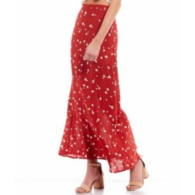 ビラボン レディース スカート ボトムス High-Waist Flirty Floral Daze Printed Midi Skirt Paprika