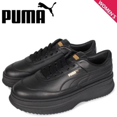 PUMA プーマ デバ スニーカー レディース 厚底 DEVA ブラック 黒 37119901