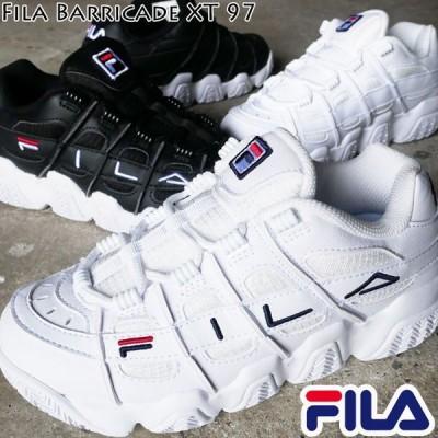 フィラ FILA レディース 厚底スニーカー ダッドスニーカー ダッドシューズ 白 ホワイト 黒 ブラック バリケード XT 97 UNI ローカット 厚底靴 F0415