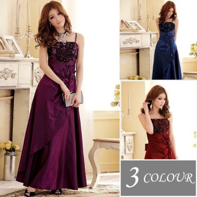 3色 パーティードレス ロングドレス ウェディング ペアトップ Aライン マキシ丈 二次会 フォーマル 大きいサイズ イブニングドレス ブライダル