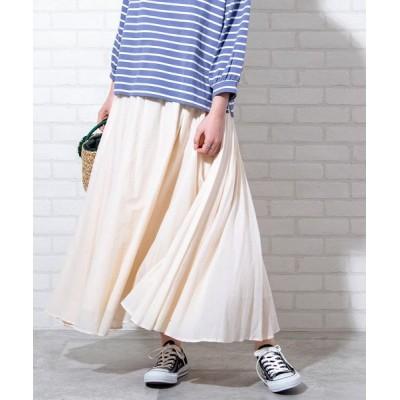 coen レディース ソリッドマキシスカート# オフホワイト