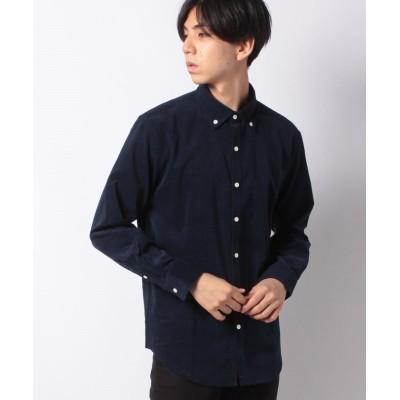 【オールドイングランド】 ボタンダウンシャツ メンズ 紺 L OLD ENGLAND