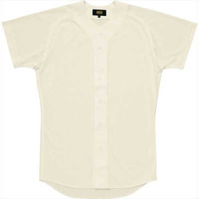 ZETT(ゼット) 試合用ユニフォーム メッシュシャツ(プルオープンスタイル) アイボリー