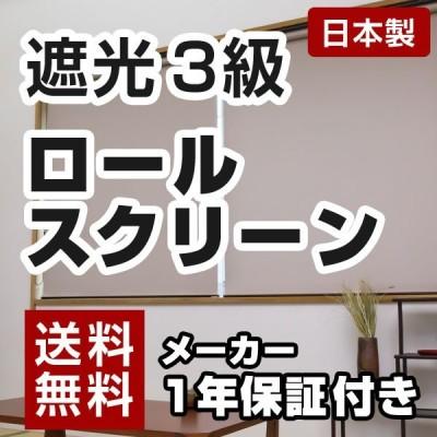 日本製 ロールスクリーン オーダー 1cm単位 遮光3級 洗える ウォッシャブルタイプ 幅25~40cm 高さ30~90cm タチカワブラインドグループ 代引不可