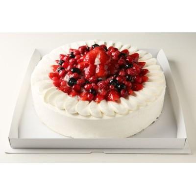 神奈川県足柄下郡近辺限定配送 送料無料 パーティー用大型ケーキ イチゴデコレーション 8号 24cm