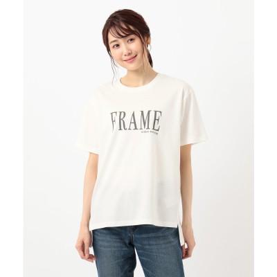 any FAM オーガビッツプリント Tシャツ (アイボリー系)