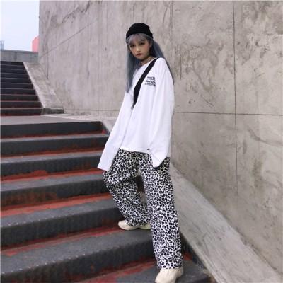 韓国ファッション  ユニセックス ♪ ワイドパンツ ダルメシアン 韓国 原宿 個性派ファッション ダンス 衣装