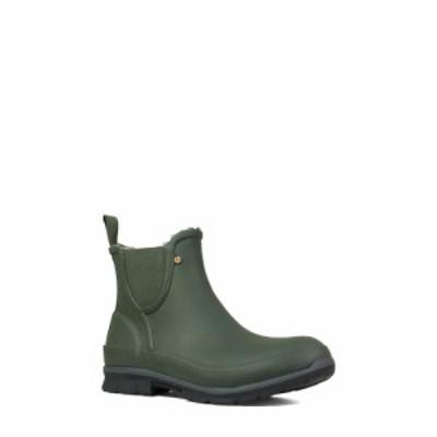 ボグス BOGS レディース スリッポン・フラット シューズ・靴 Amanda Plush Waterproof Slip-On Boot Dark Green