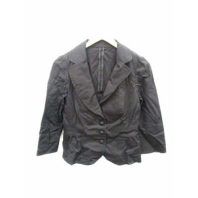 【中古】ブリジット BRIGITTE ジャケット テーラード 七分袖 9 黒 /DH27 ● レディース