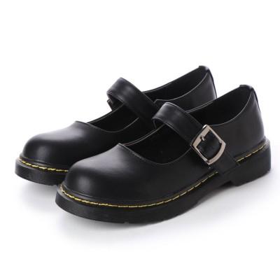 ジェミニ GeMini オックスフォードシューズ レディース おじ靴 革靴 カジュアルシューズ レディース プラットフォーム 8712 (PuBlack)