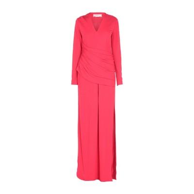 ジェニー GENNY ロングワンピース&ドレス レッド 42 レーヨン 100% ロングワンピース&ドレス