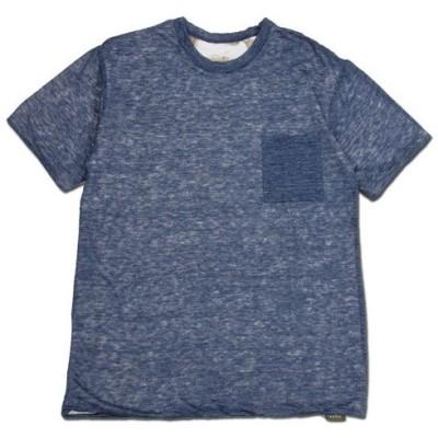 Phatee (ファッティー) W FACE S/S TEE リネン ヘンプコットン リバーシブル Tシャツ / NAVY x FISH