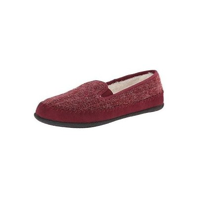 フラッツ&オックスフォード シューズ 靴 Daniel Green Daniel グリーン 5957 レディース Gildy レッド Faux Fur Moccasins シューズ 8 ミディアム (B,M) BHFO