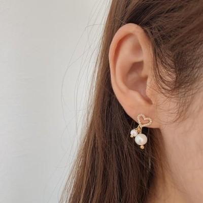 HEYLADY レディース イヤリング Easel Heart Gold Earrings