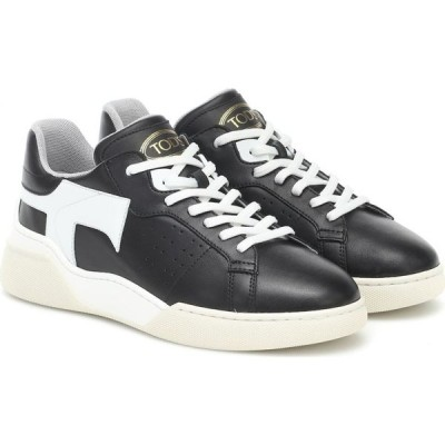 トッズ Tod's レディース スニーカー シューズ・靴 Leather Sneakers Nero/Bianco