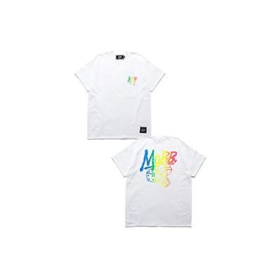 モブ MOBB グラデーション バックプリント Tシャツ メンズ M-XXL ホワイト GRADATION DICE T-SHIRT -WHITE-