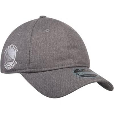 ニューエラ メンズ 帽子 アクセサリー Golden State Warriors New Era Black Label Series Suiting 9TWENTY Adjustable Hat Gray