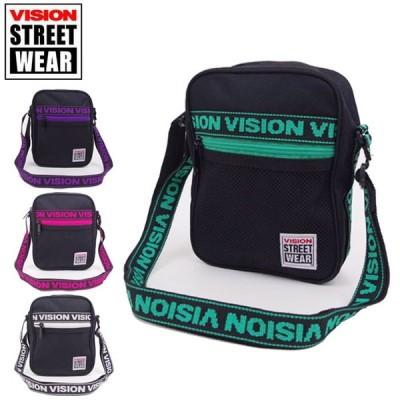 VISION STREET WEAR ショルダーバック メンズ おしゃれ 斜めがけバッグ ポーチ ヴィジョンストリートウエア 9718 鞄 レジャー メール便 送料無料