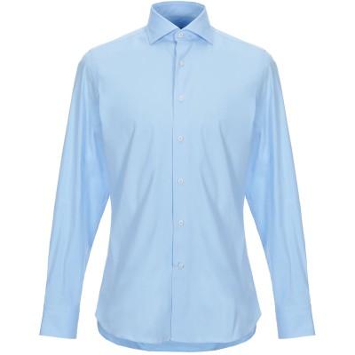 EDO シャツ アジュールブルー 40 指定外繊維(紙) 96% / ポリウレタン 4% シャツ