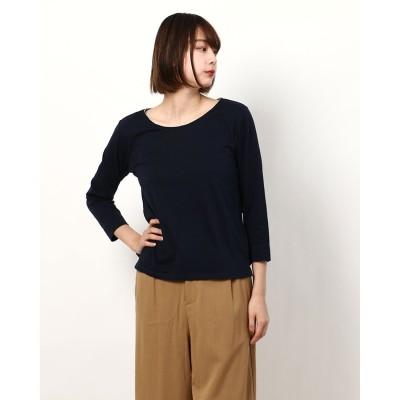 リネーム Rename ビジューラインネックTシャツ (ネイビー)