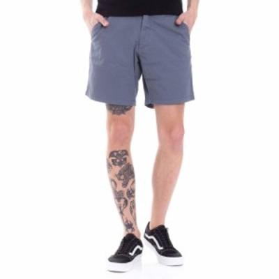 リール REELL メンズ ショートパンツ ボトムス・パンツ - Flex Chino Grey Blue - Shorts blue