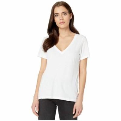 フィランソロピー n:philanthropy レディース Tシャツ Vネック トップス Mack V-Neck T-Shirt White