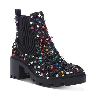 ベッツィジョンソン ブーツ&レインブーツ シューズ レディース Women's Rowann Block Heel Booties Black Multi